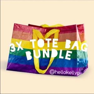 🌈3 NEW🌈IKEA Rainbow Tote Bags